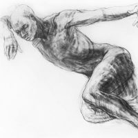 Noella Roos Charcoal Drawing Angel