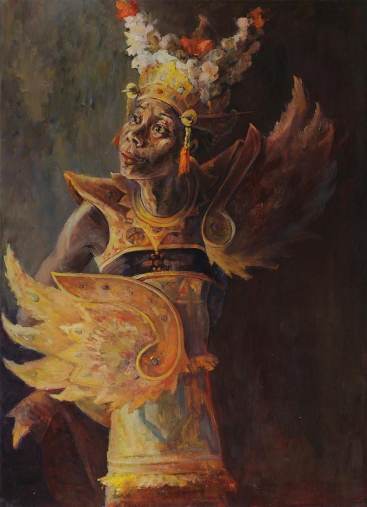 Garuda Legong Bali Dance Painting by Noella Roos