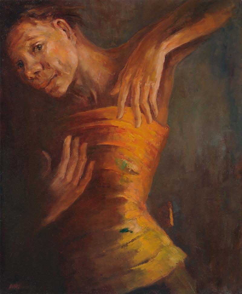 Bali Legong Dance Painting by Noella Roos