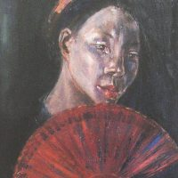 Noella Roos Vietnam Painting for Sale Thuy Fan Thumb