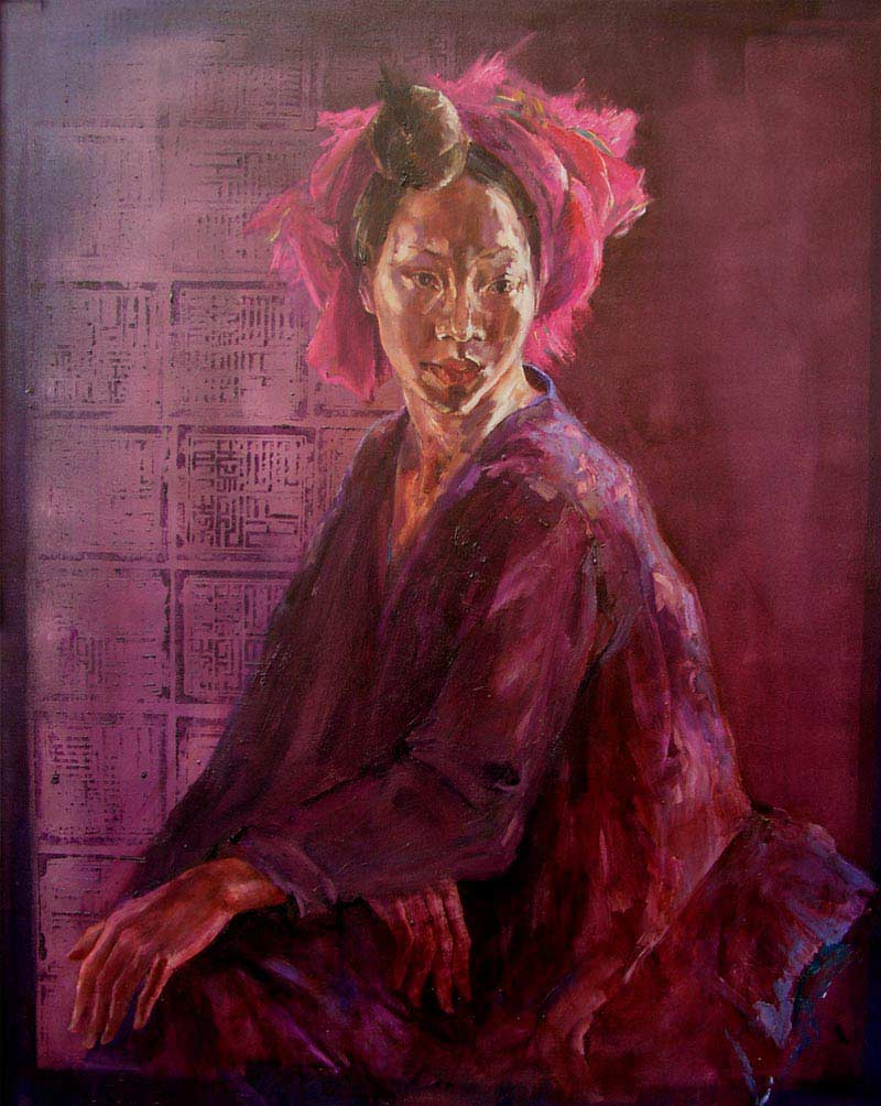 Vietnam Painting Queen Thuy by Noella Roos