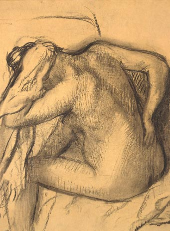 Degas smudging under his hatching