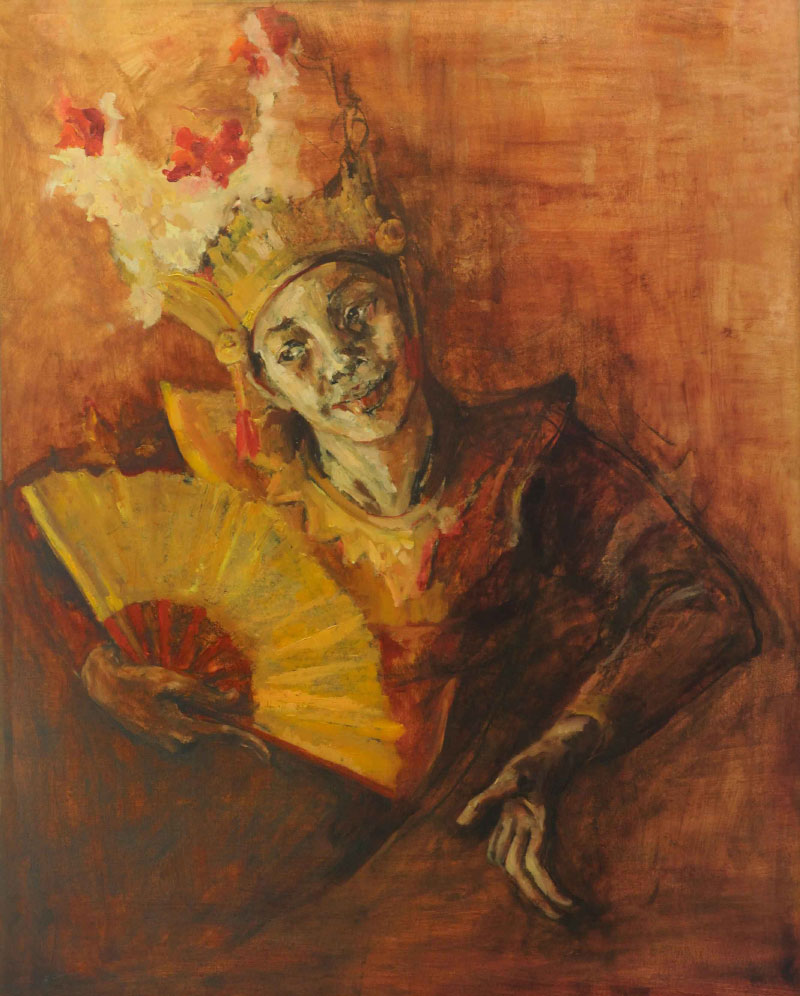 Legong Dance Painting by Noella Roos at Painting Exhibition Jakarta
