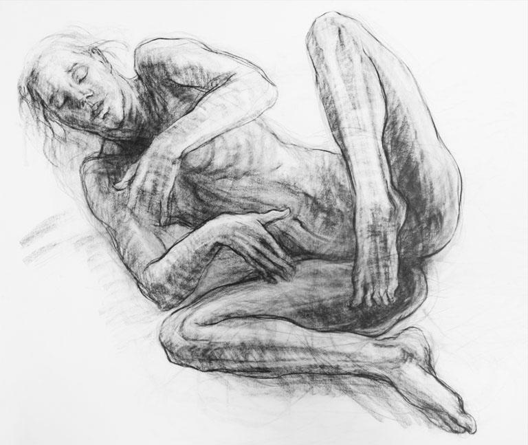 Noella Roos Charcoal Drawing Allegra