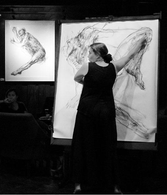Noella Roos Moving Lines Exhibition Metis Gallery Seminyak Bali 4